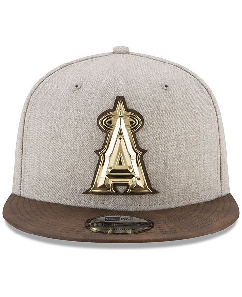 low priced f3a98 fd8e7 ... canada new era. los angeles angels oatmeal ogold 9fifty snapback cap.  be the first