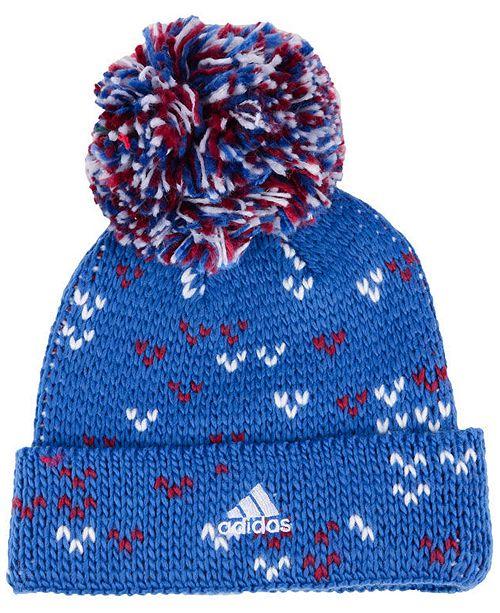 fe8398547e2 adidas Women s Colorado Avalanche Cuffed Pom Knit - Sports Fan Shop ...