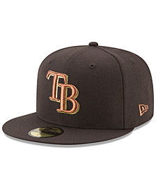 New Era Tampa Bay Rays Brown on Metallic 59FIFTY Fitted Cap