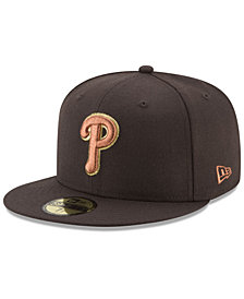 New Era Philadelphia Phillies Brown on Metallic 59FIFTY Fitted Cap