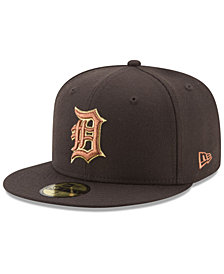 New Era Detroit Tigers Brown on Metallic 59FIFTY Fitted Cap