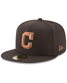 New Era Cleveland Indians Brown on Metallic 59FIFTY Fitted Cap
