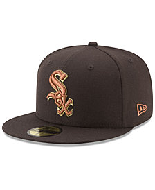 New Era Chicago White Sox Brown on Metallic 59FIFTY Fitted Cap