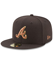 New Era Atlanta Braves Brown on Metallic 59FIFTY Fitted Cap