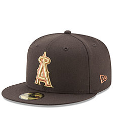 New Era Los Angeles Angels Brown on Metallic 59FIFTY Fitted Cap