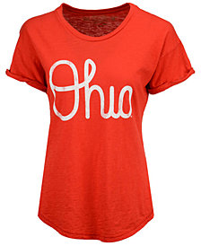 Retro Brand Women's Ohio State Buckeyes Slub Rolled Sleeve T-Shirt