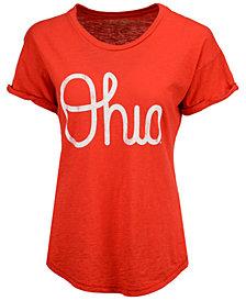 Retro Brand Women's Ohio State Buckeyes Slub Rolled Sleeve T-Shirt
