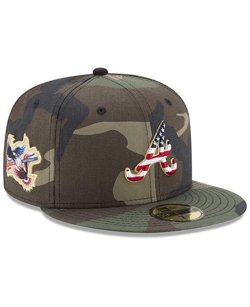 3c7c46bfae9 New Era Atlanta Braves Classic Veteran 59FIFTY Fitted Cap - Sports ...