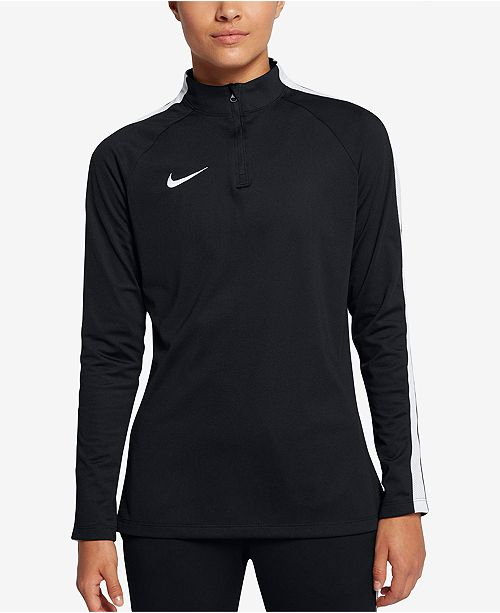 239abd16 Nike Academy Dri-FIT Quarter-Zip Soccer Drill Top & Reviews - Tops ...