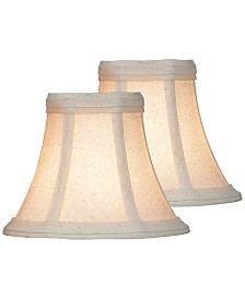"Lite Source Set of 2 Clip-on 6"" Soft Glow Chandelier Shades"
