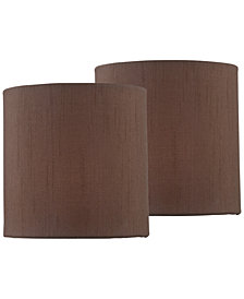 "Lite Source Set of 2 Clip-on 5"" Chandelier Drum Shade"