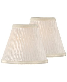 "Lite Source Set of 2 Clip-on 5"" Pleated Chandelier Shade"