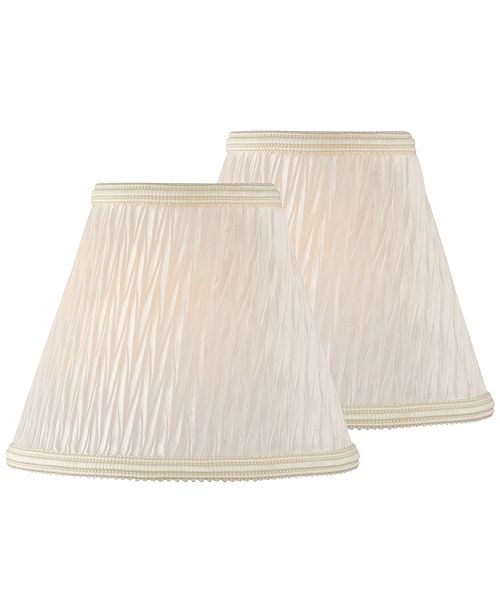 """Lite Source Set of 2 Clip-on 5"""" Pleated Chandelier Shade"""