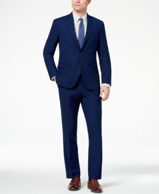 Men's Techni-Cole Slim-Fit Stretch Modern Blue Solid Suit