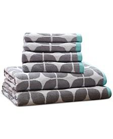 Lita Cotton 6-Pc. Geometric Jacquard Towel Set