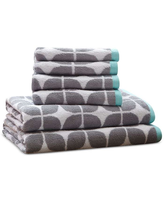 Intelligent Design - Lita Cotton 6-Pc. Geometric Jacquard Towel Set