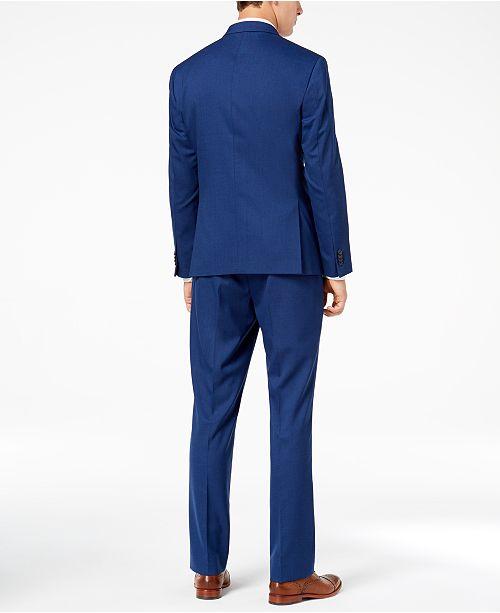 ... Kenneth Cole Reaction Men s Techni-Cole Bright Blue Sharkskin Slim-Fit  Suit ... ecf714cb4