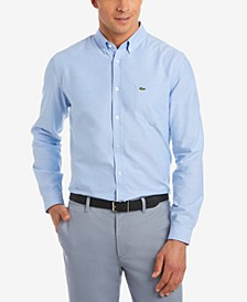 Men's Regular Fit Long Sleeve Button Down Solid Oxford Shirt