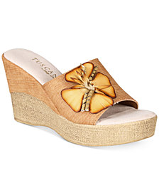 Tuscany by Easy Street Castello Wedge Sandals