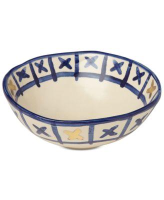 Lenox-Wainwright Pompeii Blu Land Small Serving Bowl, Created for Macy's