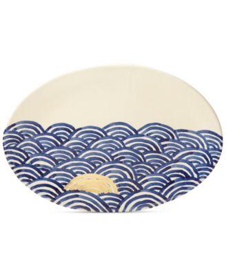 Lenox-Wainwright Pompeii Blu Sea Oval Platter, Created for Macy's