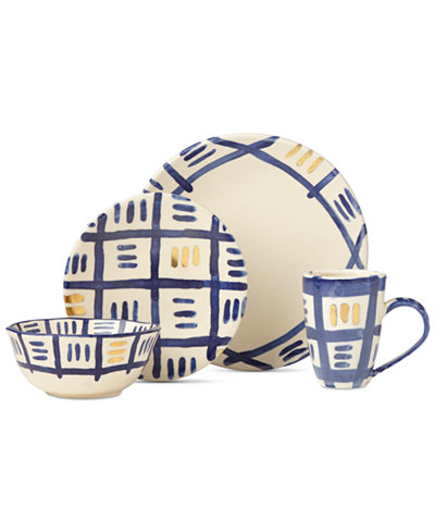 Crafted by Wainwright Pompeii Blu Sky 4-Piece Place Setting, Created for Macy's