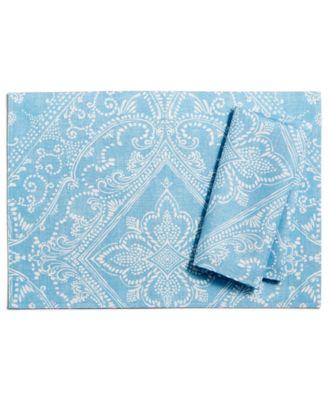 Lancaster Perle Blue Placemat