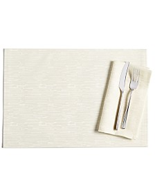 """Bardwil Continental 13"""" x 19"""" Cream Placemat"""