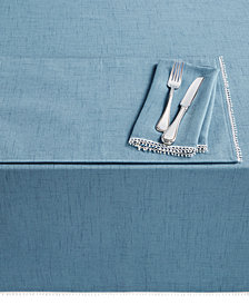 "Lenox French Perle  Denim 60"" x 102"" Tablecloth"
