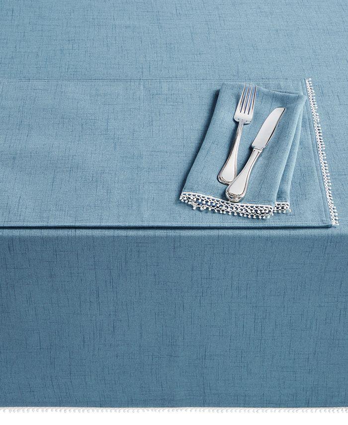 "Lenox - French Perle Denim 60"" x 84"" Tablecloth"
