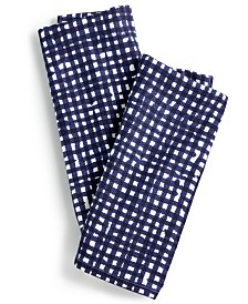 kate spade new york 2-Pc. Gingham Kitchen Towel Set
