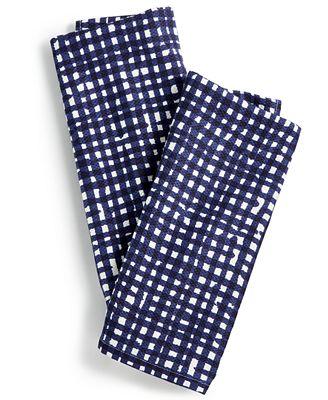 Kate Spade New York 2-Pc. Gingham Kitchen Towel Set