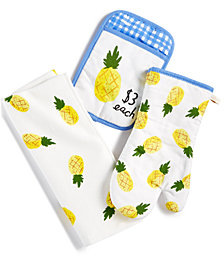 kate spade new york 3-Pc. Pineapple Kitchen Towel Set