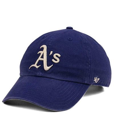 '47 Brand Oakland Athletics Timber Blue CLEAN UP Cap