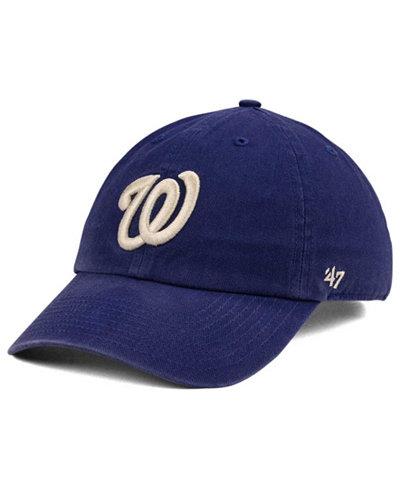'47 Brand Washington Nationals Timber Blue CLEAN UP Cap