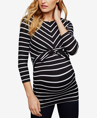 A Pea In The Pod Maternity Twist-Front Top