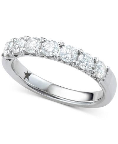 Macy's Star Signature Diamond™ Seven Stone Ring (1 ct. t.w.) in 14k White Gold