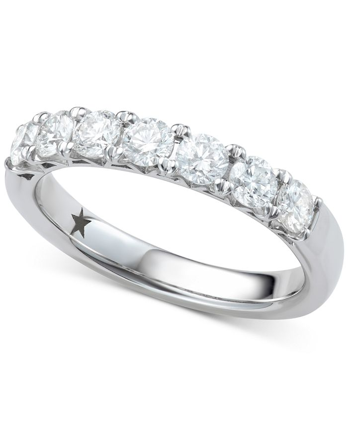 Macy's Star Signature Diamond - Certified ™ Seven Stone Ring (1 ct. t.w.) in 14k White Gold
