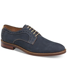 Johnston & Murphy Men's Warner Plain-Toe Lace-Up Oxfords