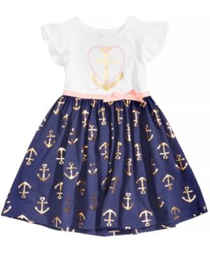 Epic Threads AnchorPrint Dress Little Girls (46X) Created for Macys