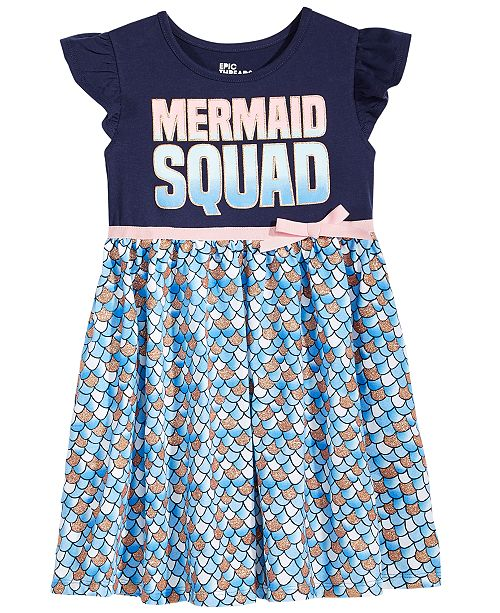 cd0bf26285d033 Epic Threads Mermaid Squad Dress, Little Girls, Created for Macy's ...