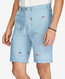 "Polo Ralph Lauren Men's Big & Tall Classic-Fit Chambray 10"" Shorts"