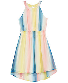 Epic Threads Rainbow Chiffon Dress, Big Girls, Created for Macy's