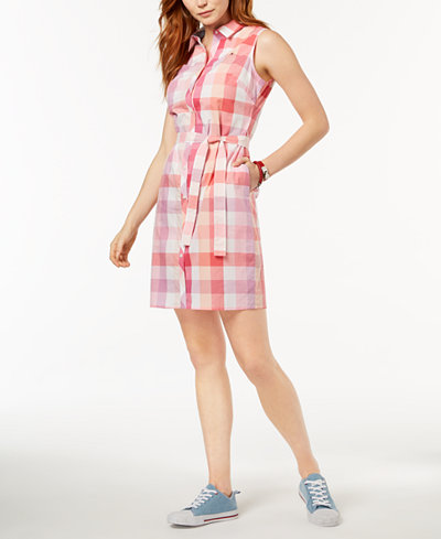 Tommy Hilfiger Plaid Cotton Shirtdress, Created for Macy's