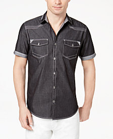 I.N.C. Men's Rodeo Denim Shirt, Created for Macy's