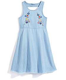 Nowadays x Bailee Madison Chambray Dress with Embroidery, Big Girls  & Juniors