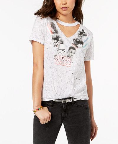Star Wars Juniors' Choker-Neck Graphic T-Shirt