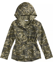 Epic Threads Hooded Camouflage Jacket, Big Girls, Created for Macy's