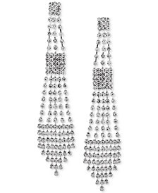 Say Yes to the Prom Silver-Tone Crystal Chandelier Earrings