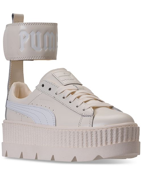 best website f361a 6cff1 Puma Women's Fenty x Rihanna Ankle Strap Creeper Casual ...
